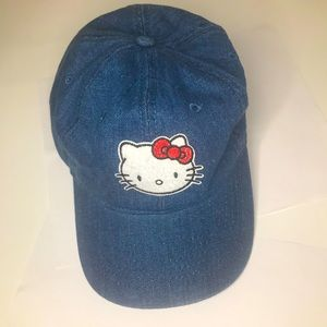 Hello Kitty jean cap women's Adjustable